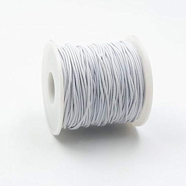 100M Stärke 1 mm Gummischnur Elastik Kordel Gummiband rund elastic cord NEU