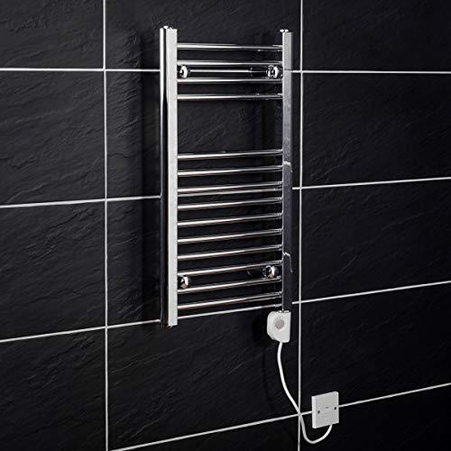 WarmeHaus Elektrischer Handtuchheizkörper, Elektro Badheizkörper 700x400 Chrom