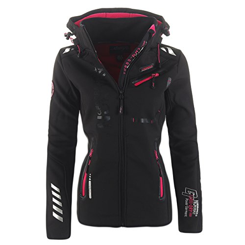99L5 Geographical Norway Reveuse II Lady SP612F/GN Softshelljacke Schwarz XL -