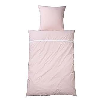 wellyou, Kinder Bettwäsche, rosa weiß Vichy-Karo, 100% Baumwolle, Maße: 100x135