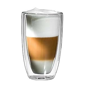 mohnblume xl latte macchiato glas 300ml doppelwandig thermoglas mit schwebeeffekt auch f r. Black Bedroom Furniture Sets. Home Design Ideas