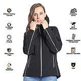 CONQUECO Damen Beheizte Jacke Beheizbare Softshell Heiz Jacke Wasserdicht Winddicht warm mit Akku und Ladegerät zum Outdoor Arbeiten (S) - 2