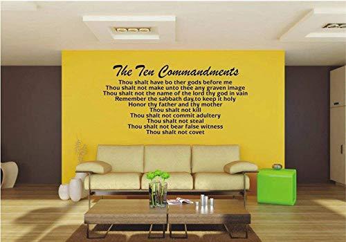 Aufkleber Zehn Gebote Vinyl Wandkunst Aufkleber Bibel Zitat Gott Glauben Christian Dekoration