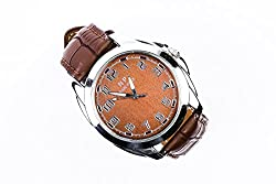 Exclusive Np Brown Leatherete Analog Brown Dial Mens Watch..!!!