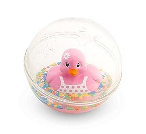 Fisher-Price Patito a Flote rosa, juguete de baño para bebé (Mattel DRD82)