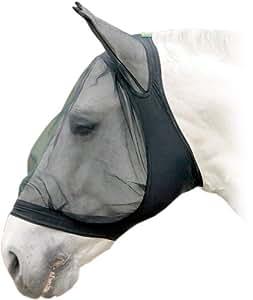 United Sportproducts Germany USG 3895 Masque anti- mouches avec protection oreilles pour cheval de trait (Noir)