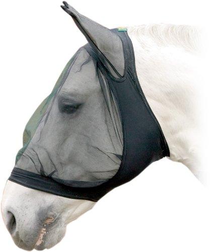 USG Fliegenmaske mit Ohrenschutz, schwarz, Extra groß