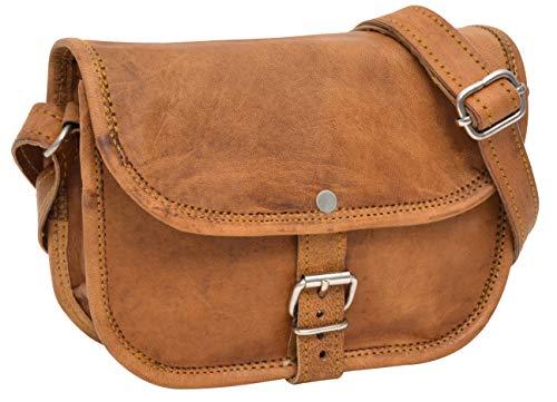 Gusti Leder nature Handtasche Mary S kleine Umhängetasche braune Lederhandtasche im Vintage Look