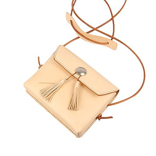 Mena UK Handgefertigt - Münzdekoration - Quaste Kleine Tasche mit Schulterriemen schwarzes Leder für Damen 1#