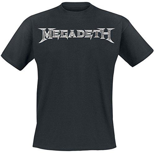 Megadeth Logo Camiseta Negro XXL