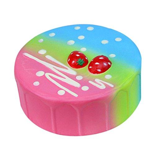 ueeze Spielzeug, ubabamama Jumbo Squishy Duft langsam Rising Collection Dekompression Stress Kombination Cute Spielzeug (Geburtstagskuchen Cartoon)