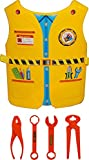 Best Gifts For A 4 Year Old Boy - Fancydresswale Plastic Role Play Vest for Kids- Enginner,Yellow Review