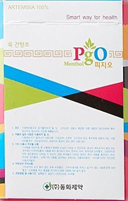 PGO ] Kräuterzigaretten : 100% Artemisia , 1 pack - Tabakfrei, Nikotin frei, von der US- FDA zugelassen , 100% natürliche, chemische Zusätze frei , weich Rauchen Sensation ... ... von PGO