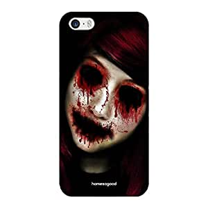 HomeSoGood Gothic Deadly Face Black 3D Mobile Case For iPhone 5 / 5S (Back Cover)