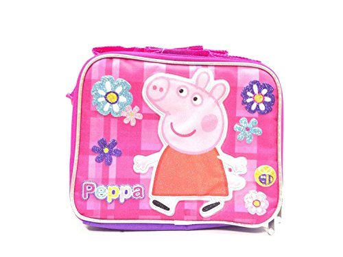 New Peppa Pig Allover Flower Lunch Bag (Peppa Pig Lunch)