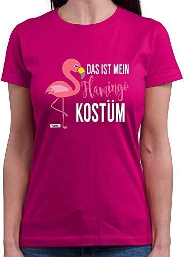 HARIZ  Damen T-Shirt Rundhals Das ist Mein Flamingo Kostüm Karneval Kostüm Plus Geschenkkarten Pink M