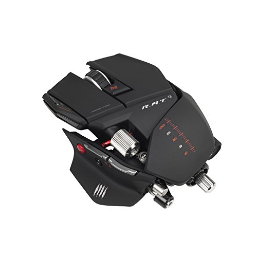 Mad Catz R.A.T. 9 Wireless Gaming Maus, 6400 dpi, PC und MAC (Wireless-gaming-maus Für Pc)