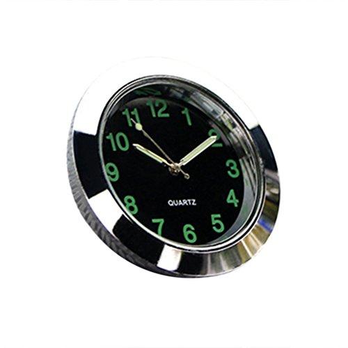 Preisvergleich Produktbild VORCOOL Universal Car Luftauslass Uhr Elektronische Nachtleuchtende Quarzuhr Leucht Pointer Für Auto Innendekoration (Silber)