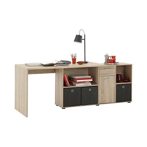 FMD Möbel 353-001 Schreibtisch-Winkelkombination Tisch ca. 136 x 75 x 68 cm, Regal ca. 137 x 71 x 33 cm - 4