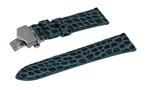 22mm-black-turquoise-small-crocodile-emboss-italian-leather-watchband-with-brushed-stainless-steel-d