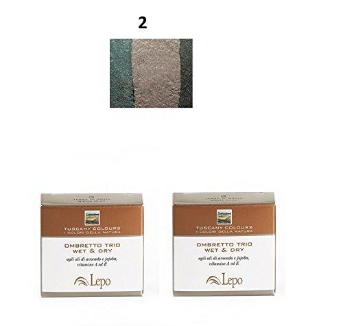 lepo-2-confezioni-di-ombretto-trio-wet-dry-tuscany-n2-prati-di-toscana-verde