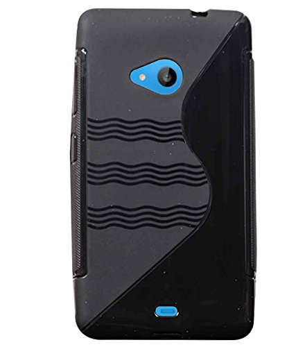 Stylabs Black Designed Soft Silicon TPU Rubberised Back Case Cover For Nokia Lumia 535  available at amazon for Rs.230