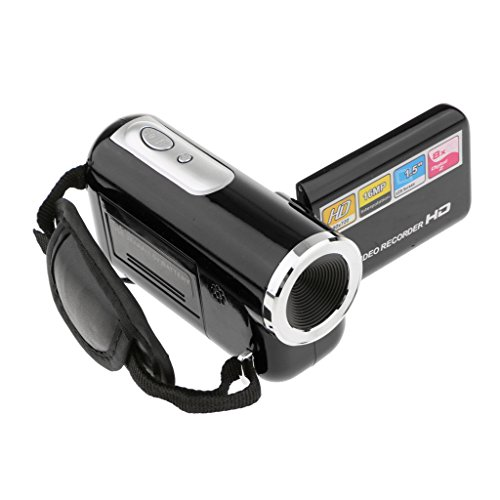 Segolike Camera Recorder Mini Digital Video Camcorder HD DV 1.8'' Screen 8X Zoom Black