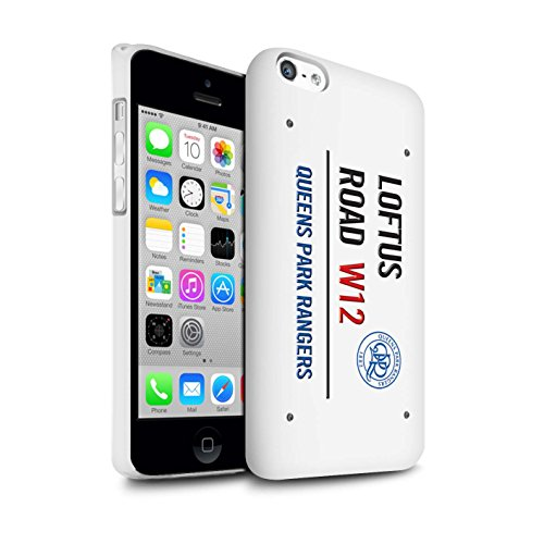 Officiel Queens Park Rangers FC Coque / Clipser Brillant Etui pour Apple iPhone 5C / Pack 8pcs Design / QPR Loftus Road Signe Collection Blanc/Bleu