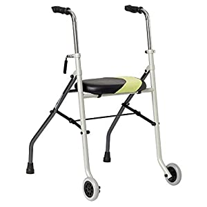 Actio2 very light, foldable two-wheeled walking frame with seat