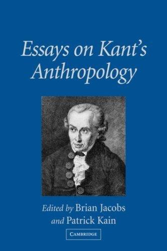 Essays on Kant's Anthropology (2007-07-23)