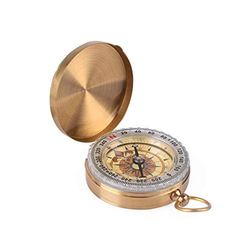 chou-rave Classic Portable montre de poche Boussole rabattable ext/érieur doutils de navigation pour le camping la randonn/ée le Bateau Dor/é