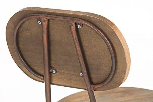 Clp sgabello di design pino in legno e metallo look industriale