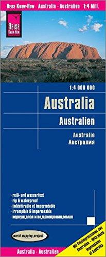 Reise Know-How Landkarte Australien / Australia (1:4.000.000): reiß- und wasserfest (world mapping project)