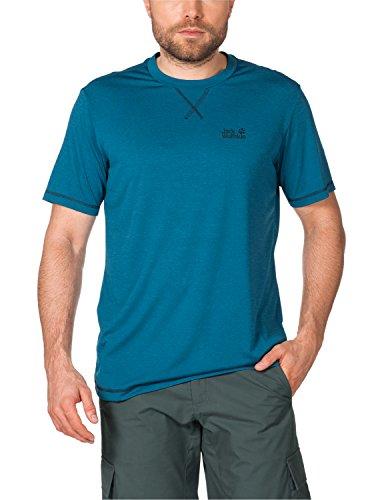 Jack Wolfskin Herren Shirt Crosstrail T Dark Turquoise
