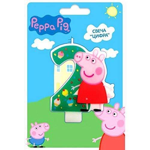 Peppa Pig Kuchendekoration, 2 Jahre Backen Dessert Dekorationen Happy Birthday Urlaub Jubilee Party Zubehör für Kinder Babyparty Feier (Peppa Pig-happy Birthday)