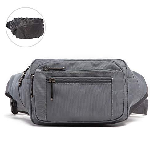 Ridioo Gürteltasche Bauchtasche, Multifunktions Unisex Hüfttasche mit wasserdichtem Regenschutz für 8-Zoll-Handy, Geldbörse, für Reisesport Outdoor (Grau)