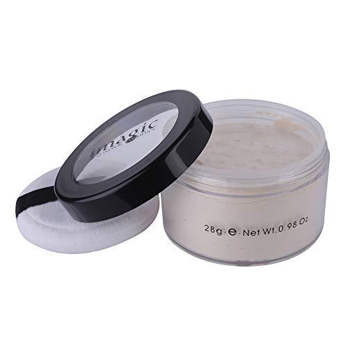 kuygdvd-UK Maquillaje Facial Polvos de Acabado Suelto Translucent Smooth Setting Foundation Control de aceite poros invisibles impermeable duradero (A)