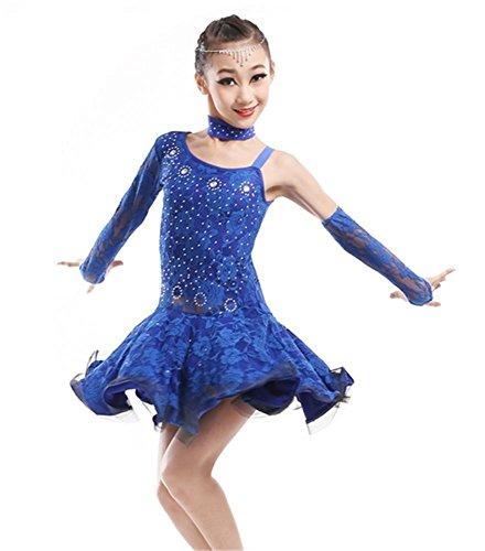 Kinder Profesional Latin Tanzkleid Mädchen Bühne Tanz Performance Kleid / Tanz zeigen , 140cm , (Kostüme Profesional)