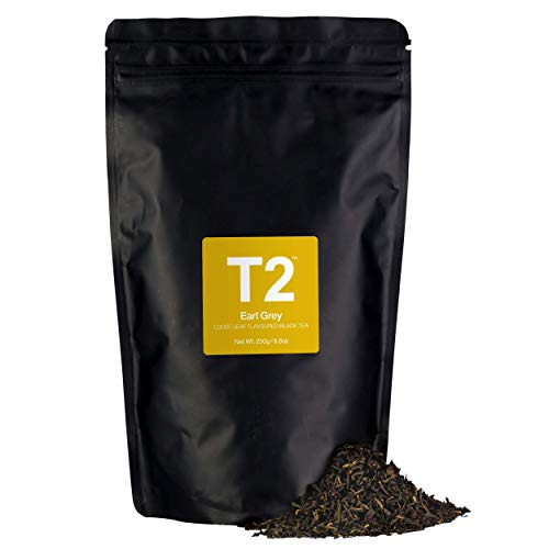 T2 Tea - Earl Grey Black Tea, Loose Leaf Black Tea in Resealable Bag, 250g