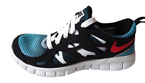 Nike Nike Free Run 2, Chaussures de running mixte enfant turquoise blue laser crimson black white 460