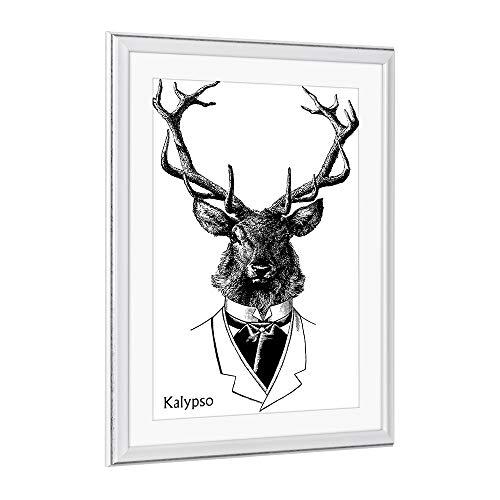 Bilderrahmen Barockrahmen Kalypso 30 X 45 cm Weiß Grau Antik Farbe und Größe wählbar