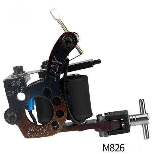 MZP Gestickte Drachen Coil Tattoo Maschine Kupfer 10 Sek. Abgelegene Kampf Nebel einzelne Eisen Schmieden Farbe brennen Tattoo Ausrüstung , m826 pure copper 10 ring secant (Schmieden-ausrüstung)