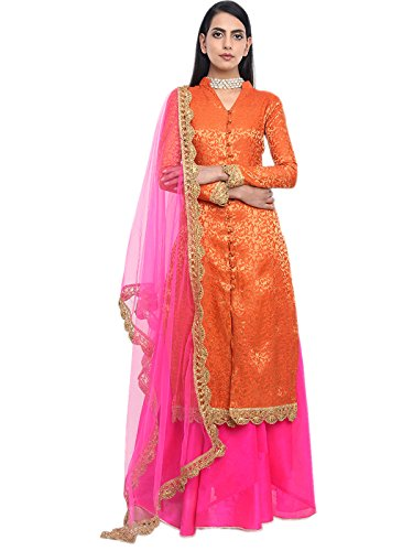 Shoppingover Indian Bollywood Designer Semi Stitched 4pc dress set eid Special for...