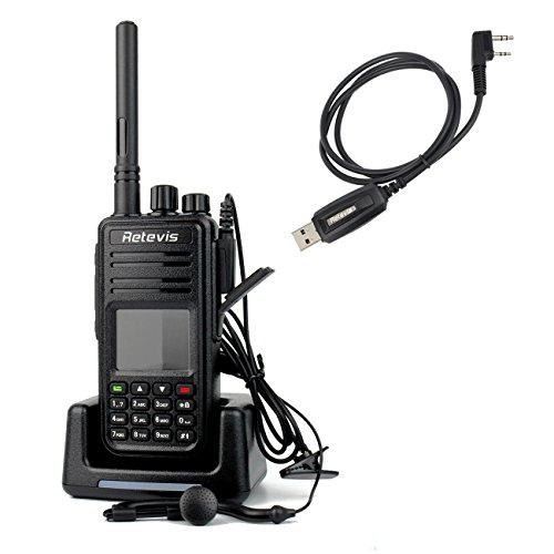Retevis RT3 DMR Digitale Walkie Talkie UHF 400-480MHz 5W  VOX Messaggio Scrambler Ricetrasmittente con Cuffia Cavo Programmabile