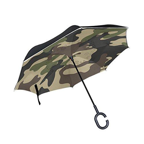 Mi Diario Doble Capa Paraguas invertido coches Reverse paraguas resist