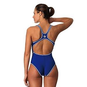 Okeo -STORM- Costume intero donna per piscina; taglio sportivo vestibilità agonista; tessuto PBT Endurtech; tinta unita disponibile in diverse varianti colore; TG 36 blu royal
