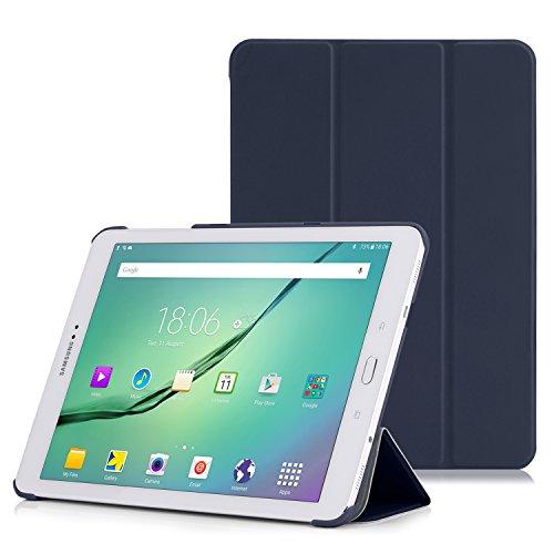 MoKo Samsung Galaxy Tab S2 9.7 Case - Ultra Sottile Leggero Supporto Custodia per Samsung Galaxy Tab S2 9.7 (SM-T815) Android 5.0 2015 Version, Indaco (Con Auto Sveglia/Sonno)