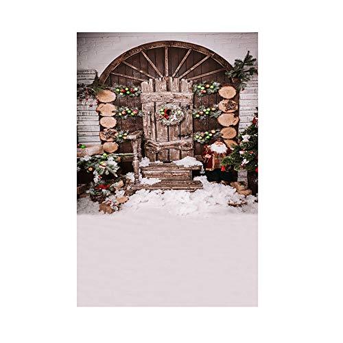 MAYOGO Studio 3D Hintergrund Stoff des Weihnachtsfoto-Studio-3D Elegant und Jahrgang Szene Hintergrund - Krippe Sterne Kostüm