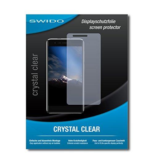 SWIDO Bildschirmschutz für Phicomm Energy 4s [4 Stück] Kristall-Klar, Hoher Härtegrad, Schutz vor Öl, Staub & Kratzer/Schutzfolie, Bildschirmschutzfolie, Panzerglas Folie