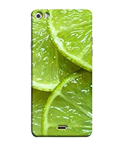 FUSON Designer Back Case Cover for Micromax Canvas Sliver 5 Q450 :: Silver Q450 (Lemon Agriculture Background Bud Candy Cell)
